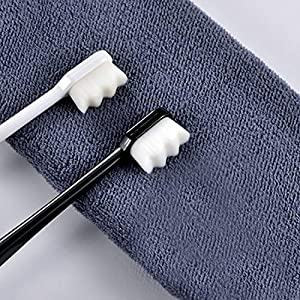 Best Epic Trends 61Z%2BaiEwHLL._SS300_ 2 PCS/PACK for couple 10000 Hairs Toothbrush Ultra-fine Nanometer Dental Oral Care Whitening Deep Cleaning Tooth…