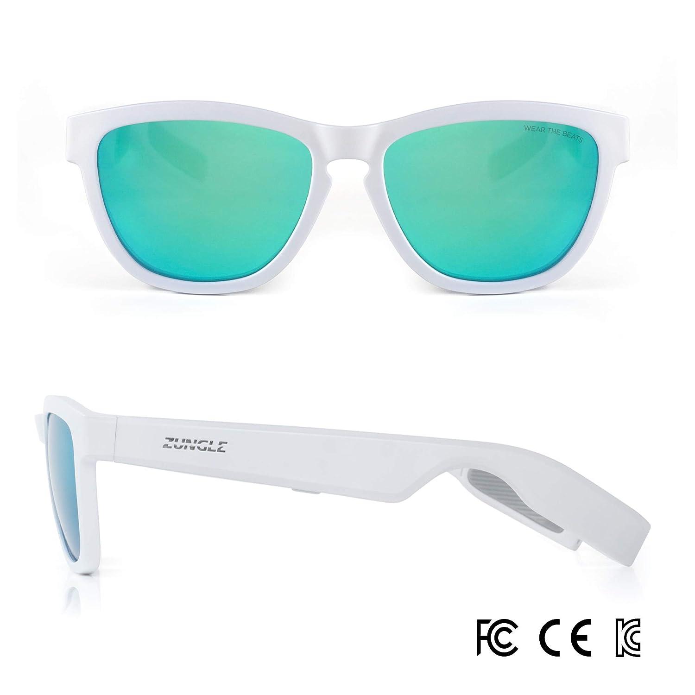 2377e5c3b5 Amazon.com  ZUNGLE V2 Viper  Bluetooth Audio Sunglasses with Over Ear True  Wireless Bone Conduction Headphones. for Men