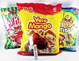 Pack of 3: 1 vero mango Chili Covered, 1 Watermelon Bollitochas and 1 Bolitochas MIX Flavor Authentic Mexican Candy with Free Chocolate Kinder Bar Included