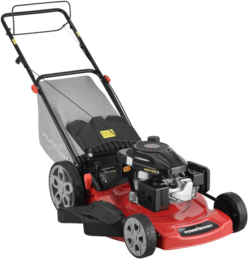 "PowerSmart DB2322S 22"" 3-in-1 196cc Gas Self Propelled Lawn Mower"