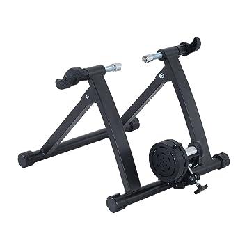 Homcom Rodillo Magnético de Ciclismo Rodillo Entrenamiento Bicicleta Plegable Resistencia Ajustable 54.5x47.2x39.