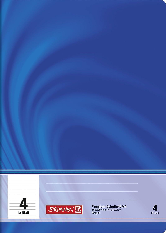 Brunnen 104470402 Schulheft A4 Vivendi (16 Blatt, liniert, Lineatur 4, Klasse 4)