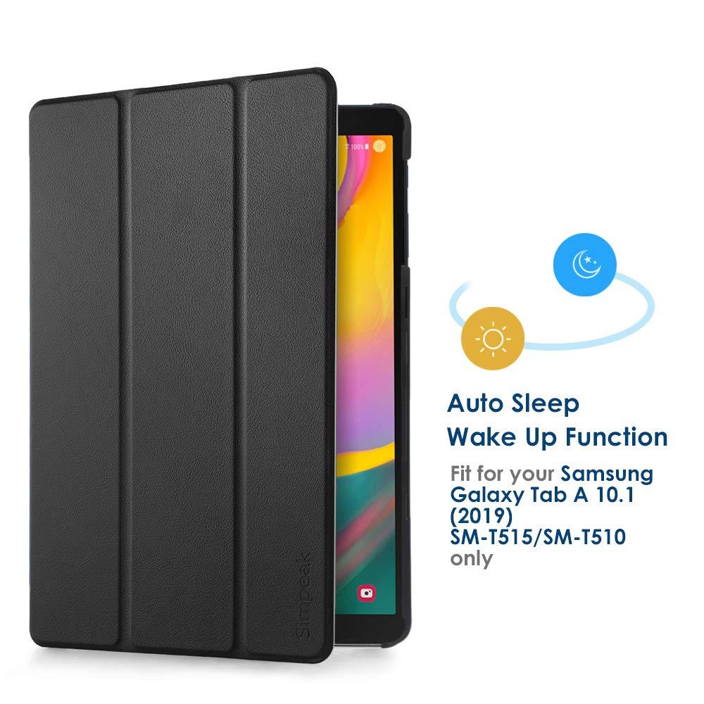 604924538ba Simpeak Funda para Samsung Galaxy Tab A 10.1 2019 (SM-T510/SM-T515), Fundas  Samsung Tab A 10.1 2019 Protector de Cubierta Multi-ángulo Cubierta Folio:  ...
