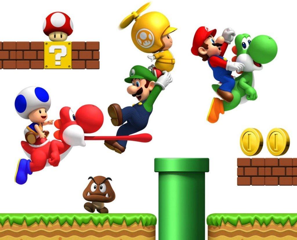 Mario Bros Bedroom Decor Super Mario Bros Repositionable Boys Bedroom Wall Stickers Amazon