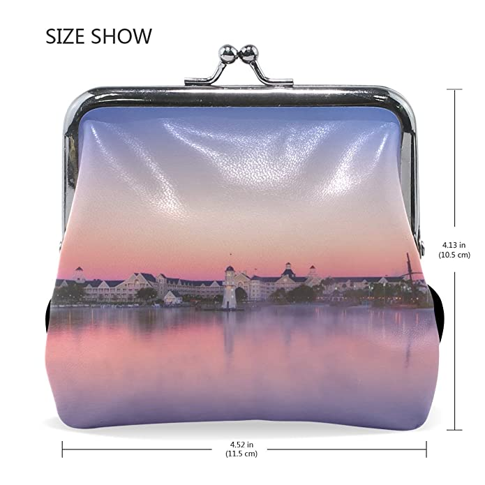 Amazon.com: Rh Studio Coin Purse River City Sky Landscape ...