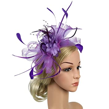 a3588aa0fd43d Fascinator Hat Feather Mesh Net Bowknot Party Hat Hairpin Bridal Feather Hat  Cocktail Wedding Tea Party