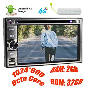¨²ltima Android 7.1 EST¨¦reo Doble DIN Car GPS Navigation Quad Core Radio