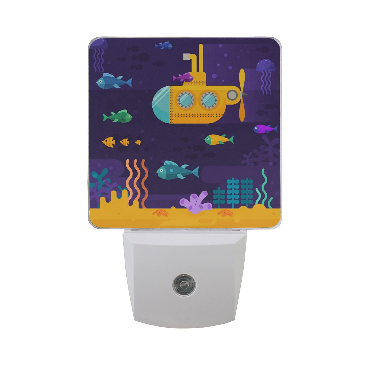 LED Night Light Yellow Submarine Auto Senor Dusk to Dawn Night Light Great for Bedroom Bathroom Living Room Hallway Any Dark Room, for Child and Adults by Saobao