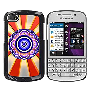 LECELL -- Funda protectora / Cubierta / Piel For BlackBerry Q10 -- Design Abstract Eye --