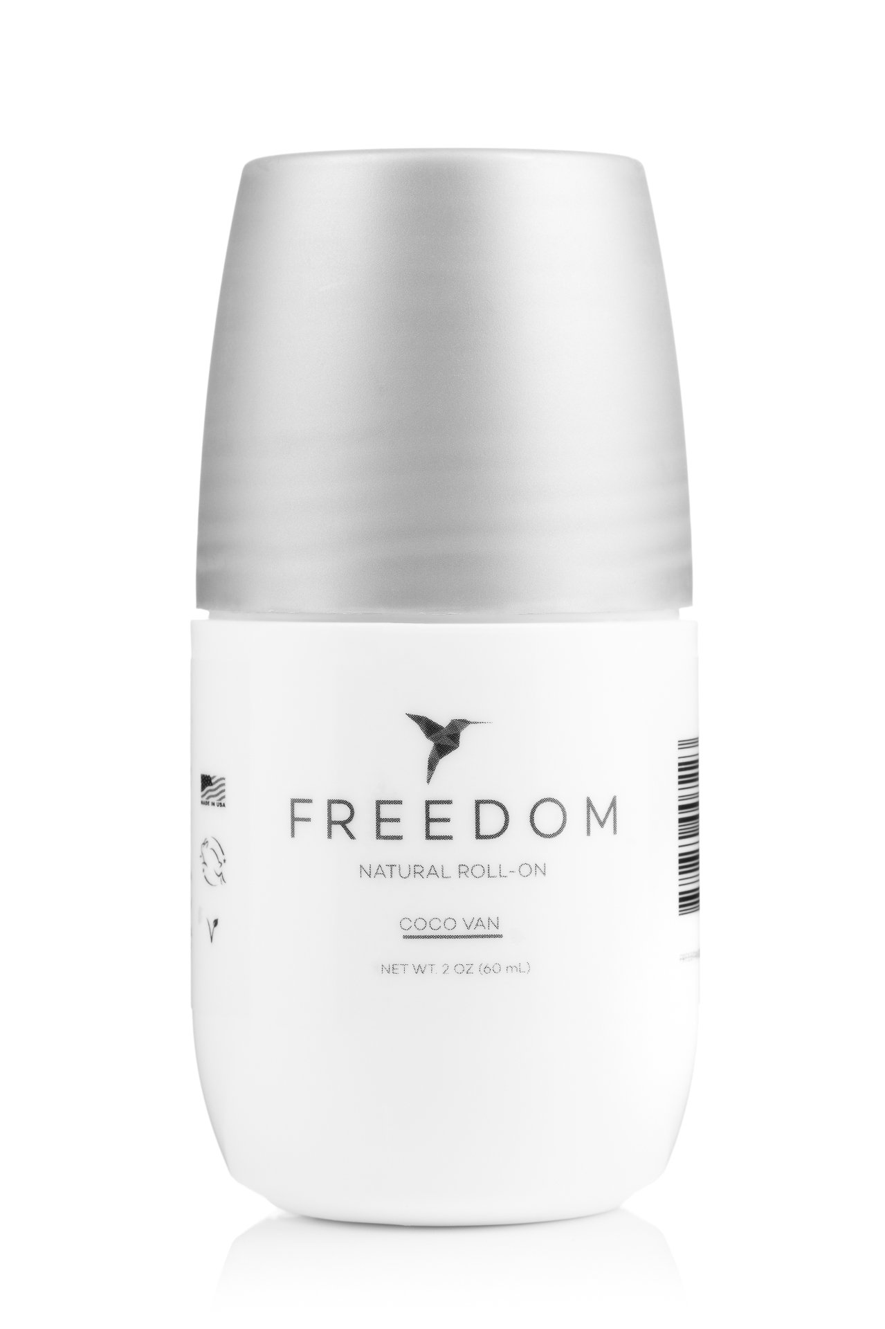 Freedom All-Natural, Aluminum Free Roll-on Deodorant for Men and Women That Works All Day (Coco-Van)