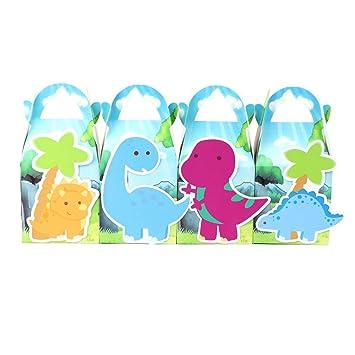 Amazon.com: Azul dinosaurio bolsas de regalo Favor Box, para ...