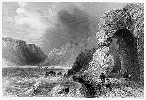 Ireland Glengarriff Nview Of The Shore Of Bantry Bay At Glengarriff County Cork Ireland Steel Engraving English C1840 After William Henry Bartlett Poster Print by (24 x - Collection Bantry