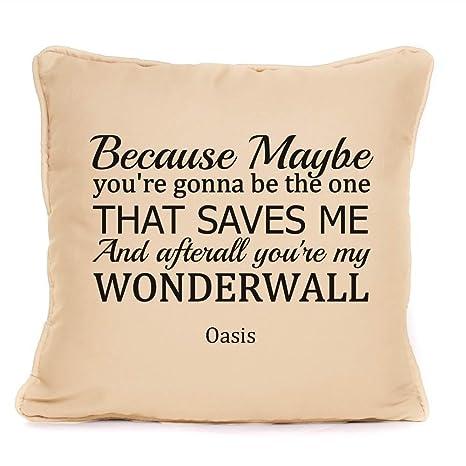 Oasis Noel Gallagher Wonderwall Lyrics Cojín ideal para tu ...