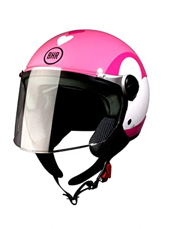 BHR 93776 Demi-Jet Love 710 Casco de Moto, Color Rosa, Talla 53
