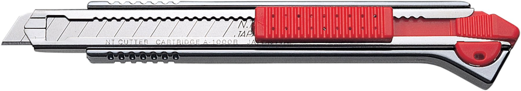 NT Cutter Aluminum Die-Cast Grip Multi-Blade Cartridge Knife (A-1000RP)