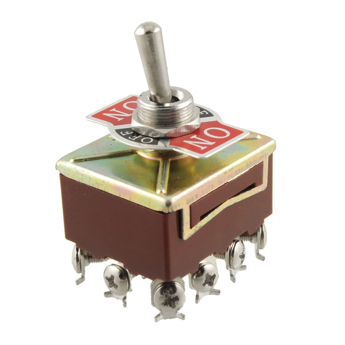uxcell® AC 15A/250V 10A/380V Screw Terminals On/Off/On 4PDT Toggle Switch US-SA-AJD-07684