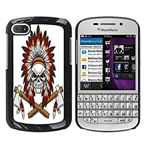 Dragon Case - FOR BlackBerry Q10 - All time is no time - Caja protectora de pl??stico duro de la cubierta Dise?¡Ào Slim Fit