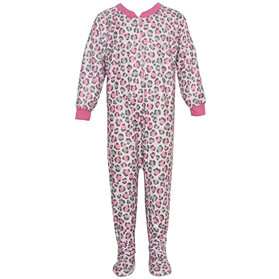 Amazon.com: Mon Petit Little Girls Gray Pink Leopard Print Overall ...