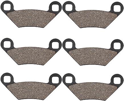 OCEAIR Front and Rear Brake Pads for POLARIS 550 Sportsman X2 2010 2011 Sportsman 550 XP EPS 2009 2010 2011 2012 2013 2014