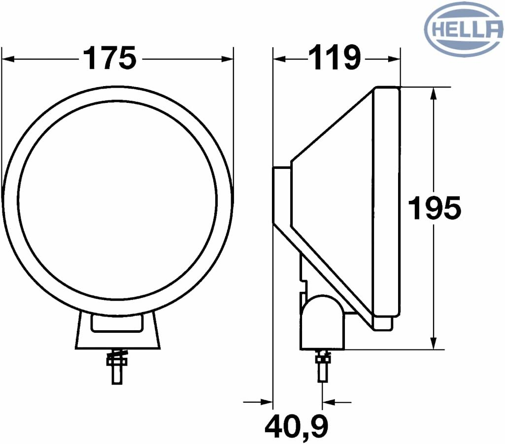Hella 1F3 009 390-051 Projecteur Longue Port/ée Rallye 3000 Compact