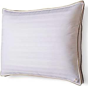 Fieldcrest Firm Down Alternative Pillow King Size Cotton Sateen Cover