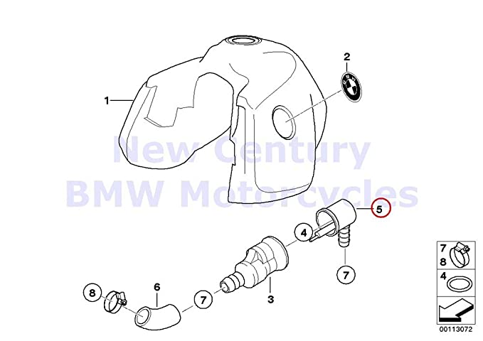 Amazon Com Bmw Genuine Motorcycle Fuel Tank Valvespipes Of Fuel