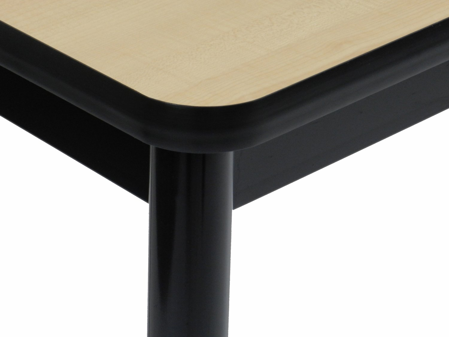 Correll 36'' High Standing / Stool Height Utility Table, 30'' x 60'' Fusion Maple High-Pressure Laminate Top with Black Frame , Rock Solid Commercial Quality (LT3060-16) by Correll (Image #10)
