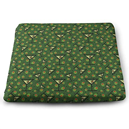 Amazon FANGT Martinis And Olives Pattern Chair Pads Square