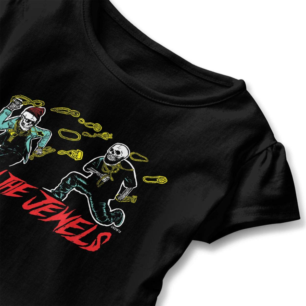 Run The Jewels Shirt Fashion Toddler//Infant Flounced T Shirts Shirt Dress for 2-6T Kids Girls