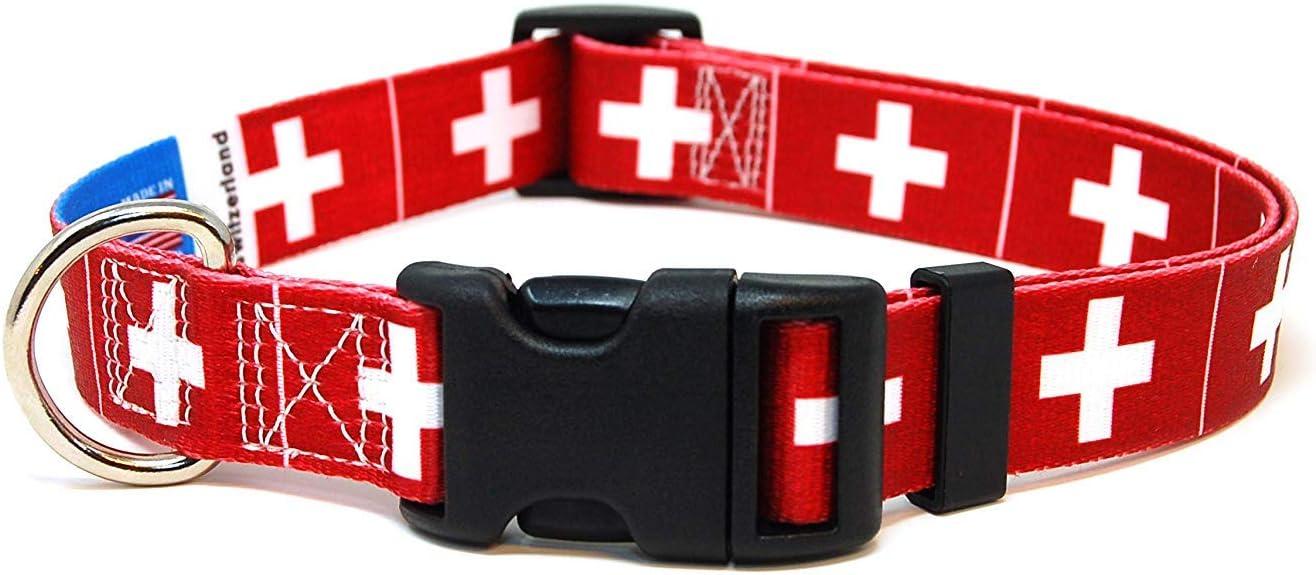 PatriaPet Collar para Perro con Bandera Suiza: Amazon.es ...