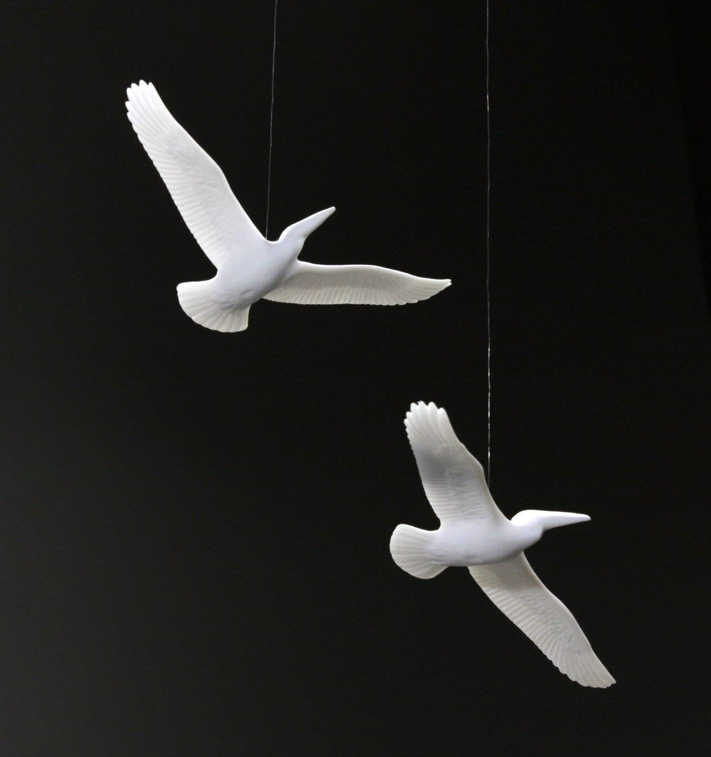 PELICAN DUO MOBILE Sculpture by JOHN PERRY 6in wingspan Sculpture Art Pellucida