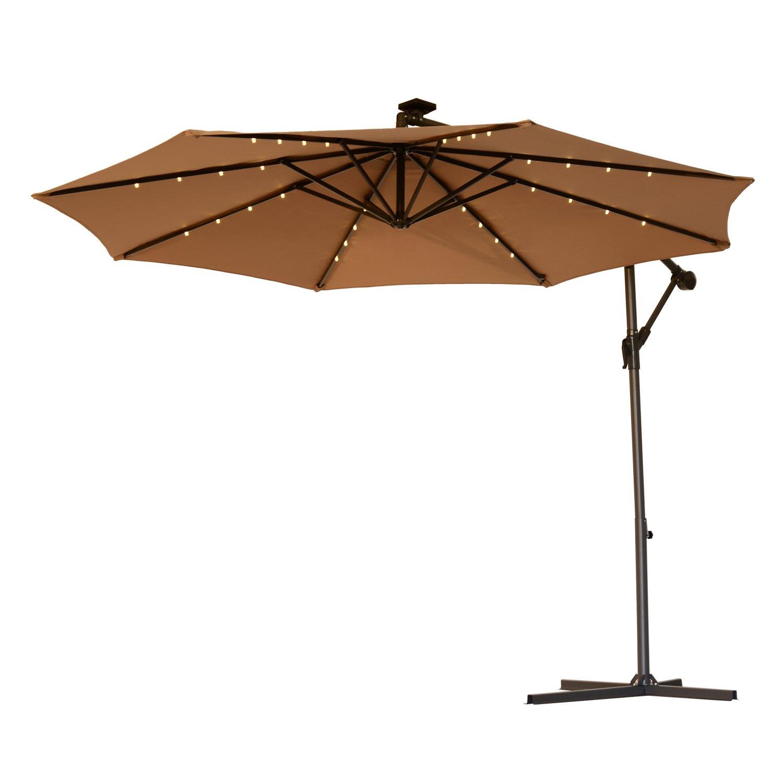 Amazon Com Outsunny 10 Steel Outdoor Offset Tilt Patio Umbrella