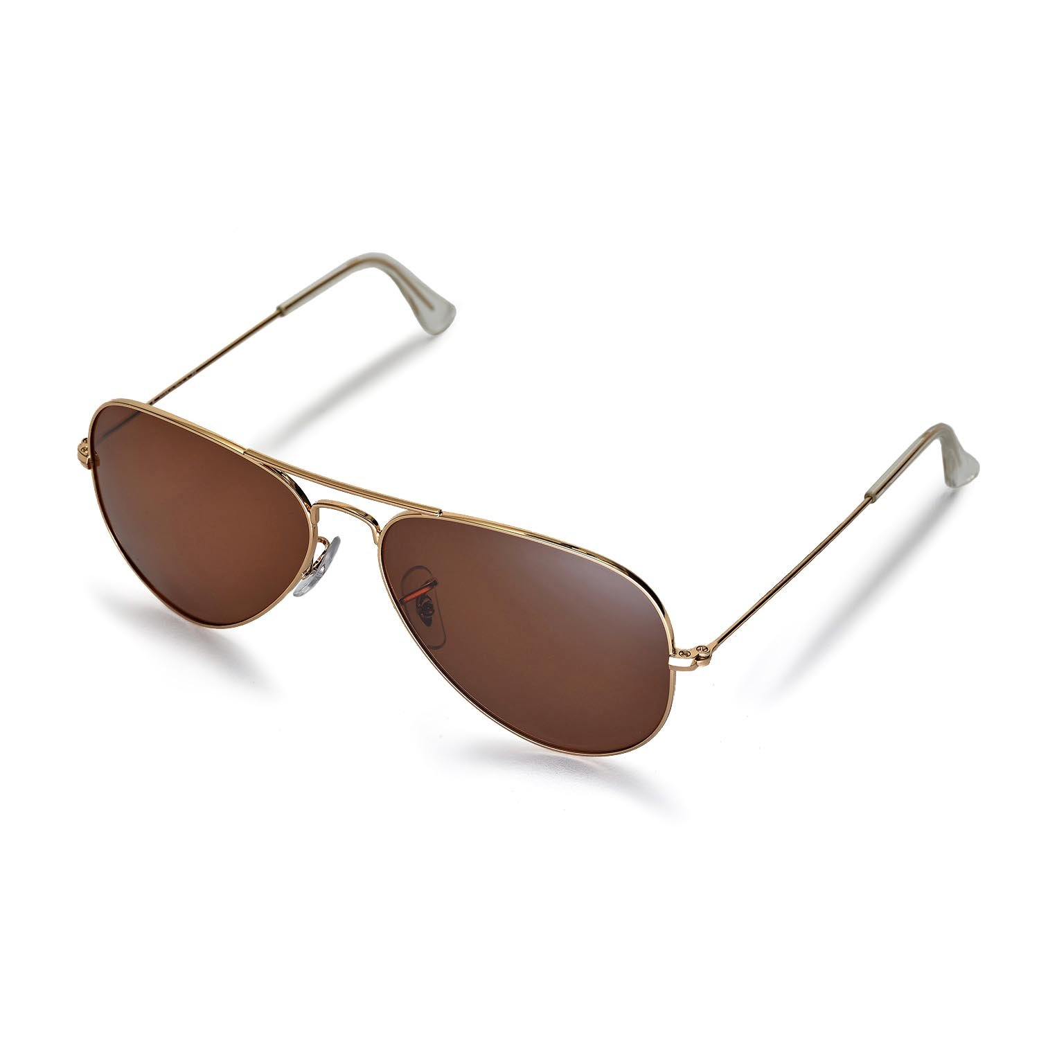 Walleva Replacement Lenses for Ray-Ban Aviator Large Metal RB3025 58mm  Sunglasses - 6 Options f74d82725ebf