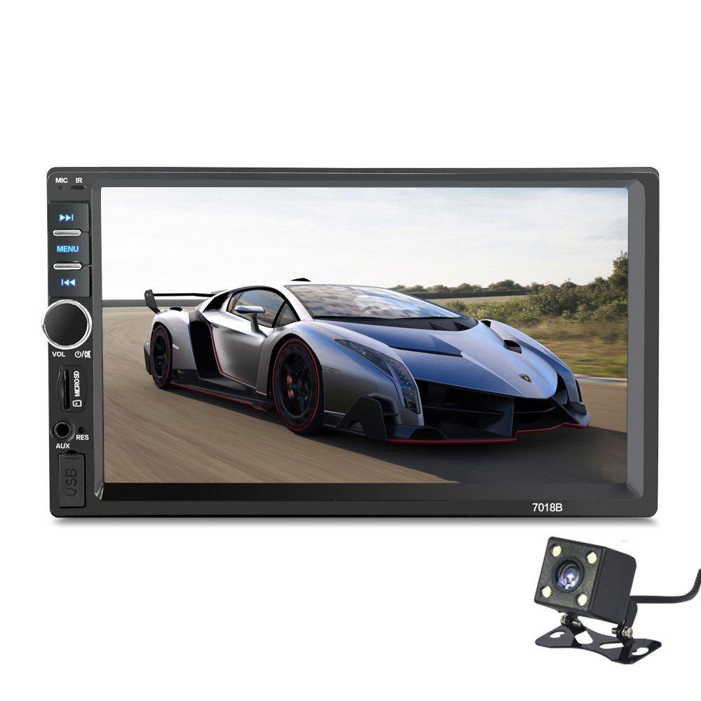 2 Din 7018B General Car Models 7'' inch LCD Touch Screen Car Radio Player Bluetooth Car Audio+ Rear View Camera (NO DVD)
