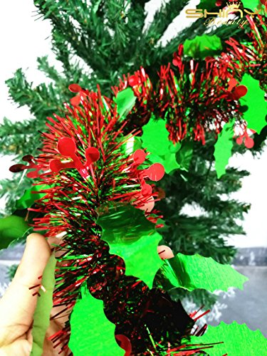 Metallic Foil-Tinsel-Garland-6.5 Feet long for Christmas Tree by ()