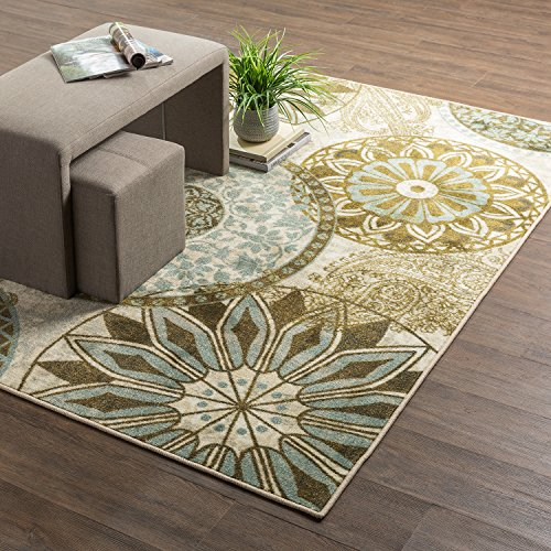 - Mohawk Home New Wave Inspired India Light Multi Rug, 7'6 x 10'