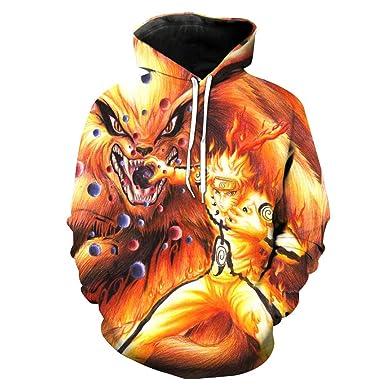 Fuego Ninja Sudadera con Capucha Unisex 3D Manga, diseño de ...