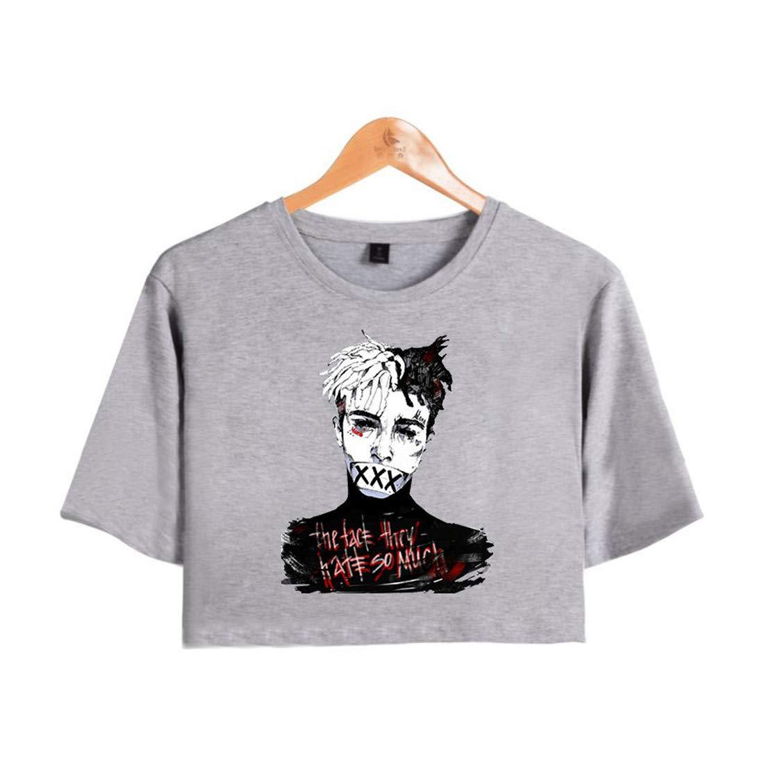 APHT Hommes Femmes Xxxtentacion T-Shirt Printemps /ét/é 100/% Coton d/ét/é Col Rond Cool Rapper Streetwear Shirt Manches Courtes