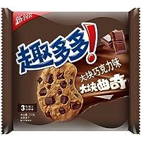 趣多多 大块巧克力味 大块曲奇饼干216g