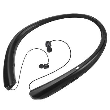 Auriculares Bluetooth 4.1 Deportivos, PEYOU Auriculares Inalámbricos, Auriculares Neckband con Earbud Retráctiles [ Tecnología