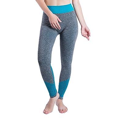 YEBIRAL Mujeres Yoga Leggings Compresión Mallas Deportes ...