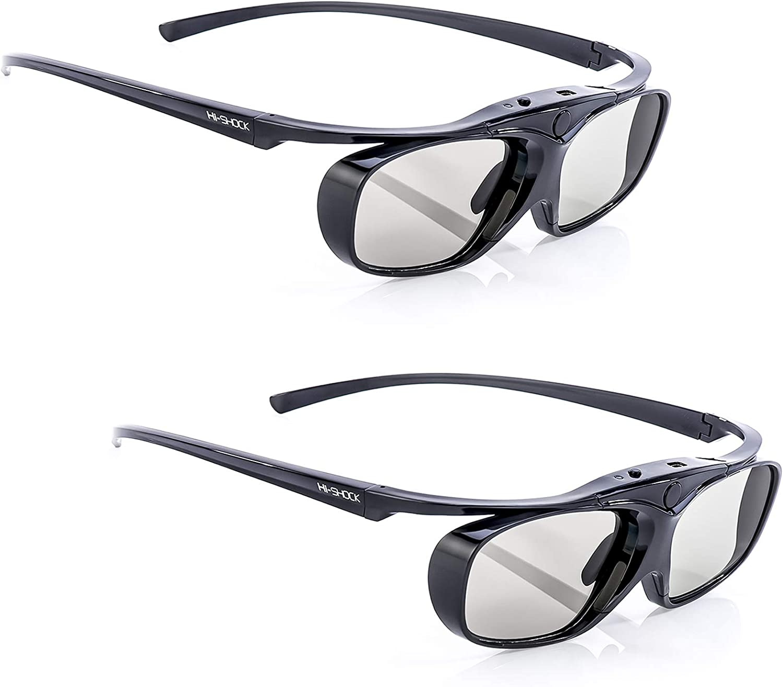 2x Hi Shock Bt Pro Black Heaven Aktive 3d Brille Für Computer Zubehör