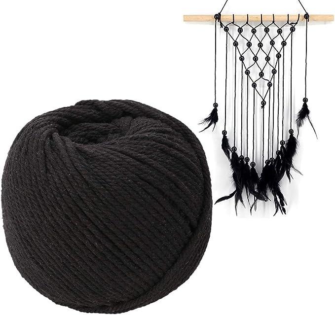 Koitoy 3 mm/90 m Hilo de algodón de macramé Cuerda de algodón ...