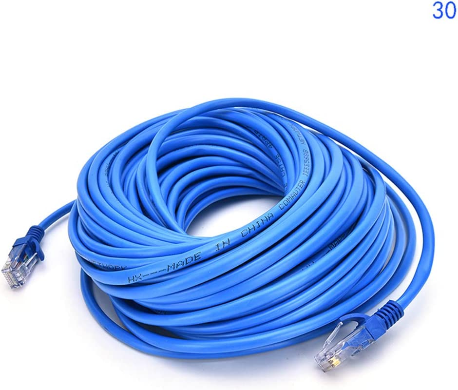 Cable Length: 20m ShineBear JETTING RJ45 Ethernet Cable 20M 30M for Cat5e Cat5 Internet Network Patch LAN Cable Cord for PC Computer