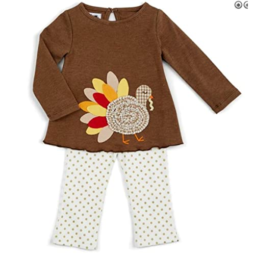 Mud Pie Baby Girls Holiday Tunic and Leggings Two Piece Playwear Set