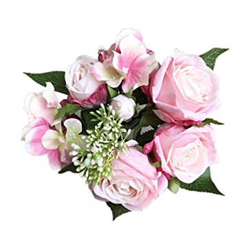 Amazon Titcool Pretty Artificial Flowers 1 Bouquet 8 Flower