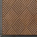 Andersen 208 WaterHog Classic Diamond Polypropylene Fiber Entrance Indoor/Outdoor Floor Mat, SBR Rubber Backing, 6' Length x 4' Width, 3/8'' Thick, Medium Brown