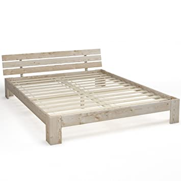 Wooden Double Bed 160x200 Cm Solid Wood Bed Frame Including