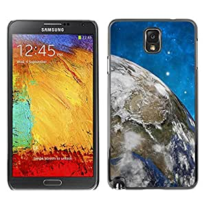 LASTONE PHONE CASE / Slim Protector Hard Shell Cover Case for Samsung Note 3 N9000 N9002 N9005 / Space Stars Blue Sky Earth Universe Planet