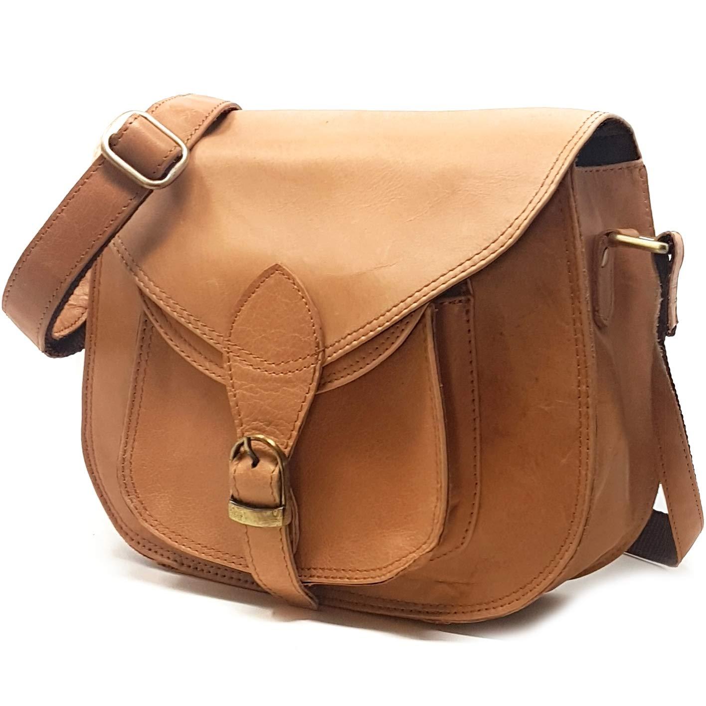 3ea8d99fe7f3 Vintage Leather Handbag and Purse for Women - Ladies Leather Crossbody  Shoulder Messenger Satchel Bag  Handbags  Amazon.com